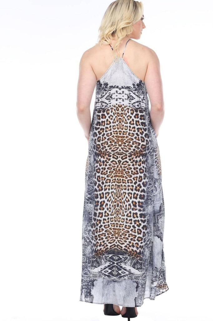 Women's Wholesale Maxi Dresses In Vibrant Prints With Racer Back Made From Imported Polyester - La Moda Clothings