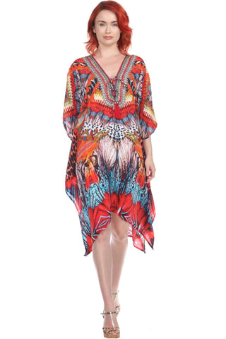 Multi-Color Trendy Vacation Beach Dress - La Moda Clothings