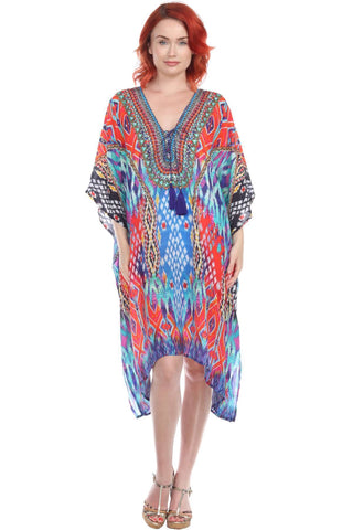 Trendy V-Neckline Maxi Silk Dress - La Moda Clothings