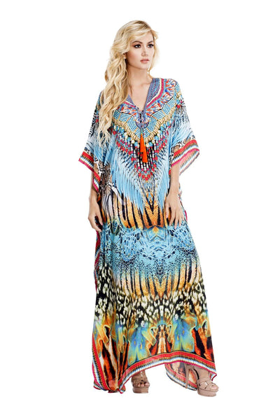 Wild Kenya Long Kaftan Dress - Wholesale High Quality luxury Caftans Dress Maxi Caftans and More - La Moda Clothings
