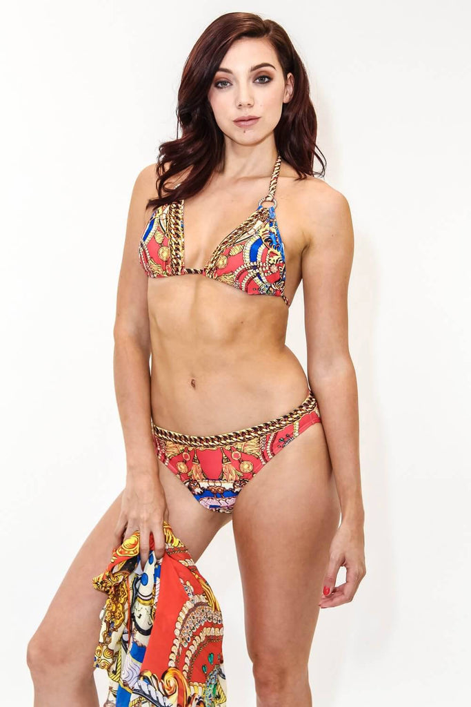 Resort Wear Wholesalers in Miami USA | Capri Print Luxury Bikini - La Moda Clothings