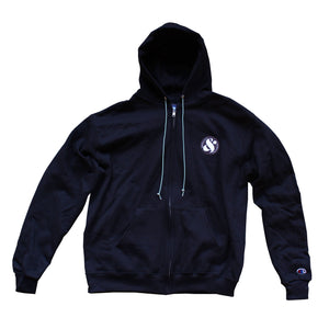 Q&C PATCH CHAMPION FULL ZIP-UP - BLACK/SAGA GREEN