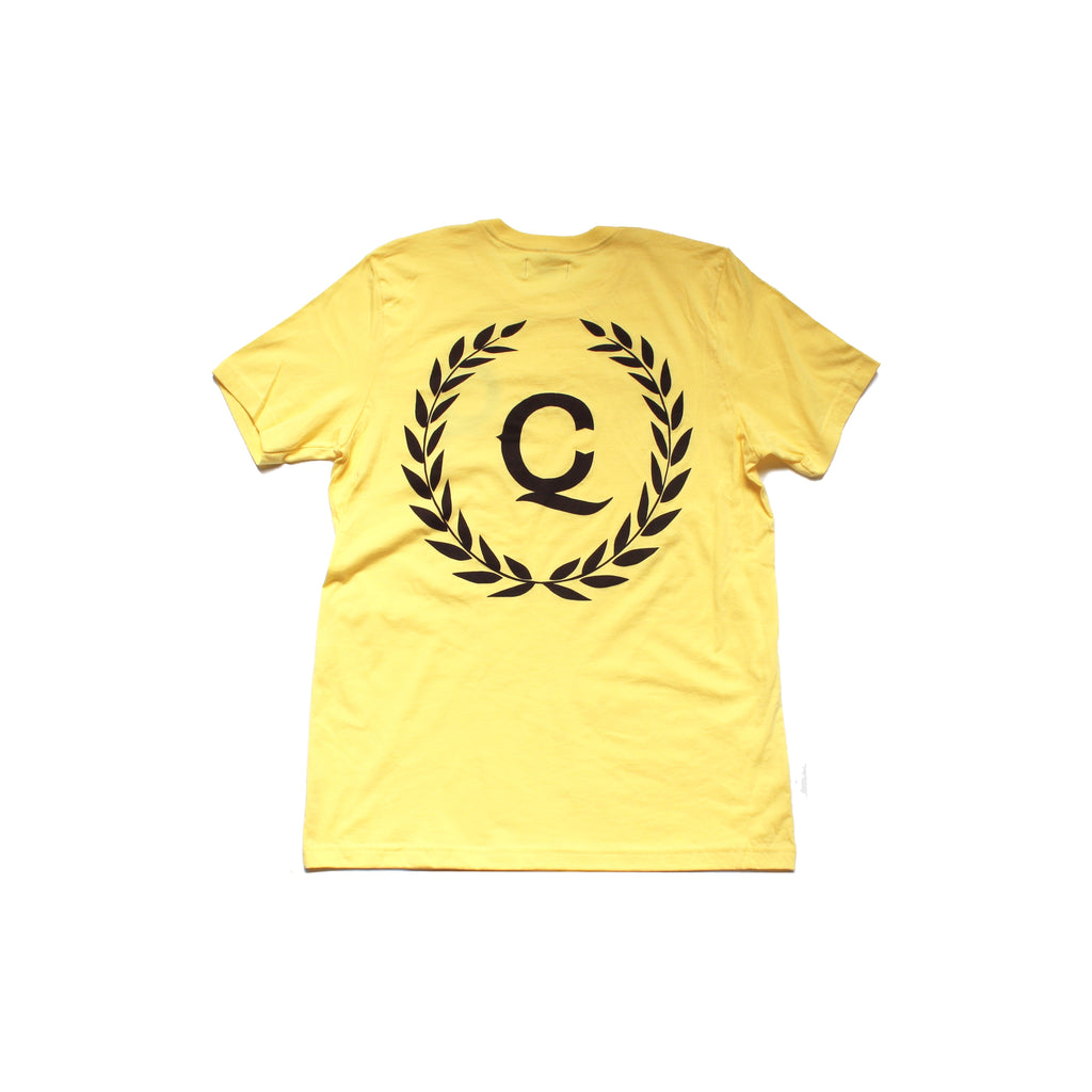 "Q&C ""CREST"" TEE (Yellow)"