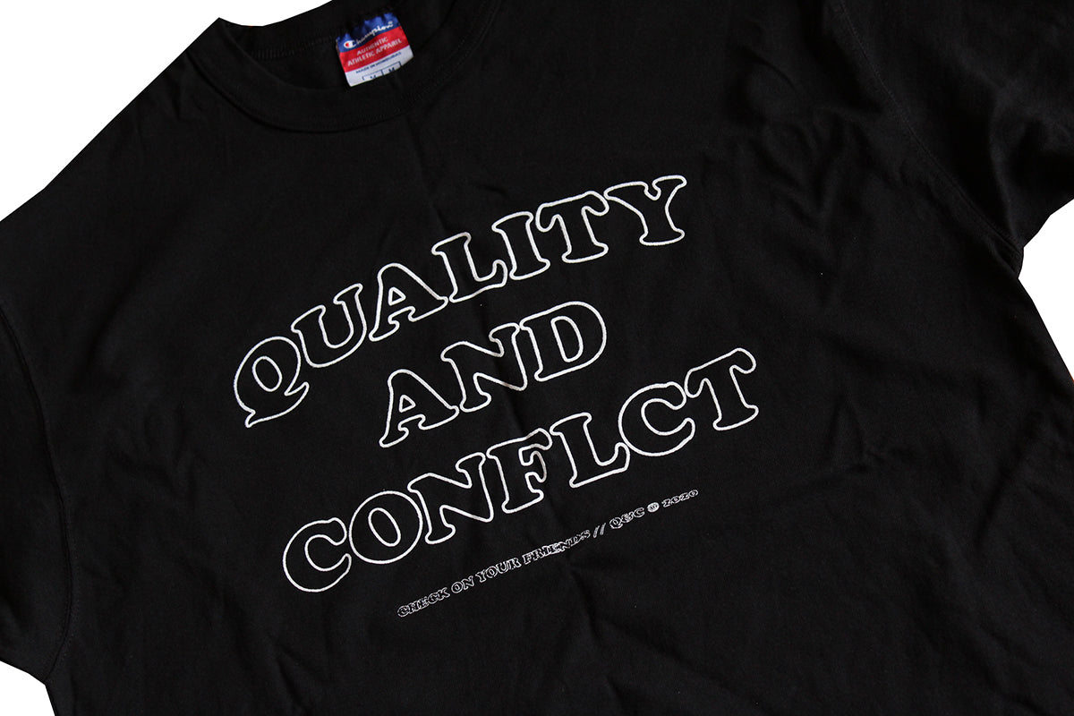 "Q&C ""Check on your friends"" Tee (Sample)"