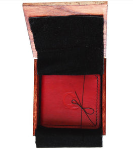 Q&C Leather Wallet (Oxblood Red)