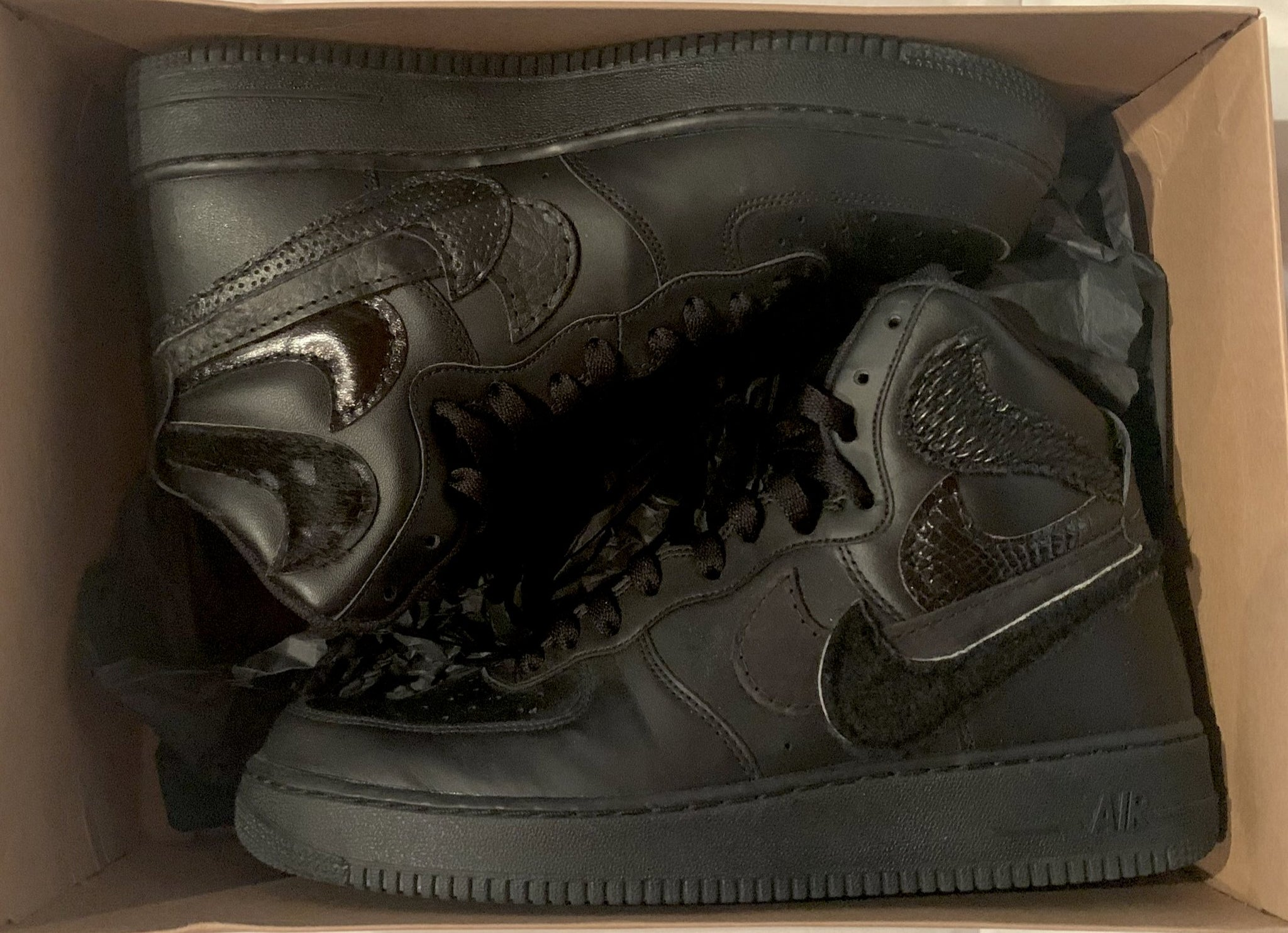 "John Geiger ""Misplaced Checks"" AF1 High (Black)"