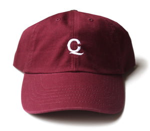 "Q&C Unstructured Hat ""Burgundy"""