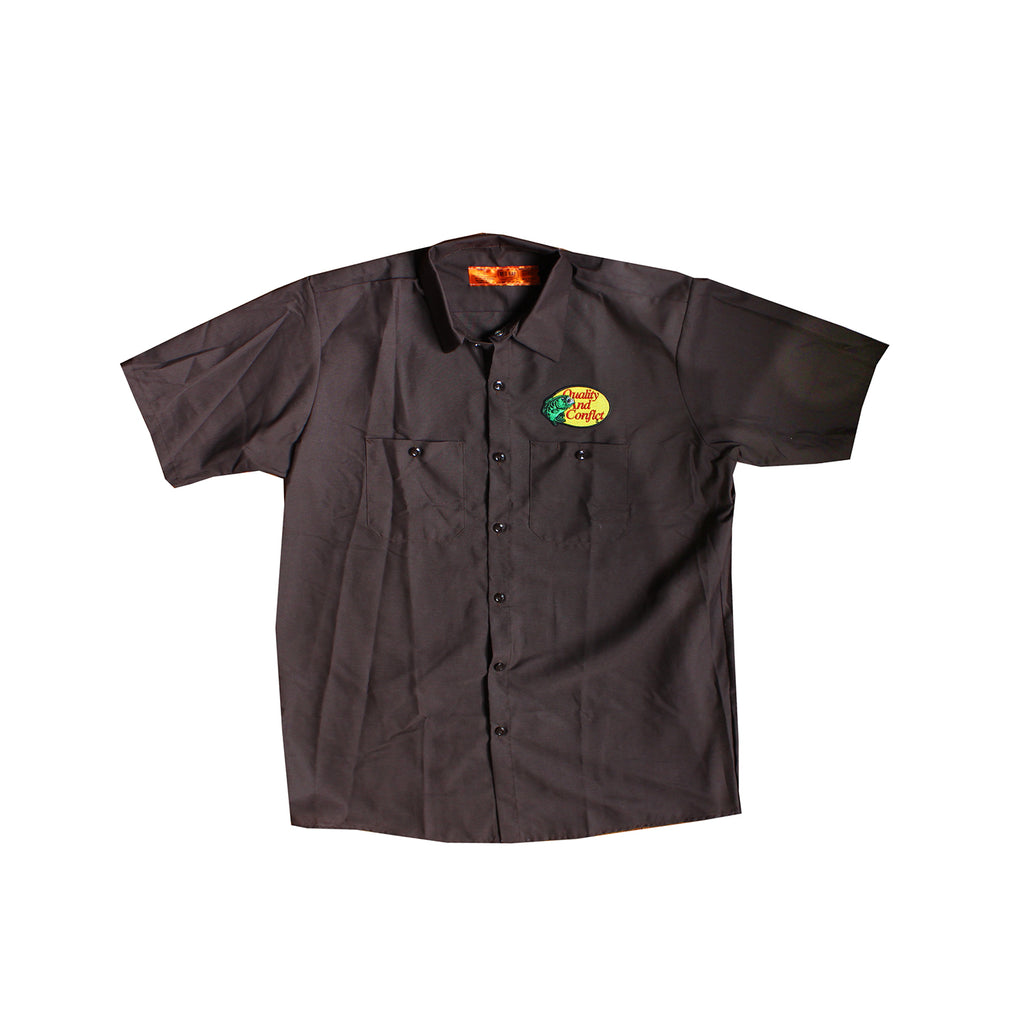 "Q&C ""Gone Fishin'"" Short Sleeve Work Shirt"