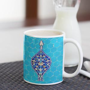 Ancient Blue Tile Mug