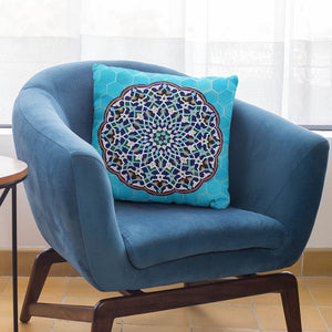 Blue Persian Tile Pillow