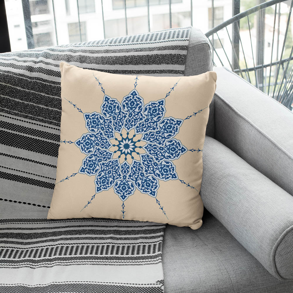 Blue illumination Pillow