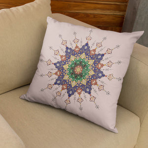 illumination On Rose Gold Background Pillow