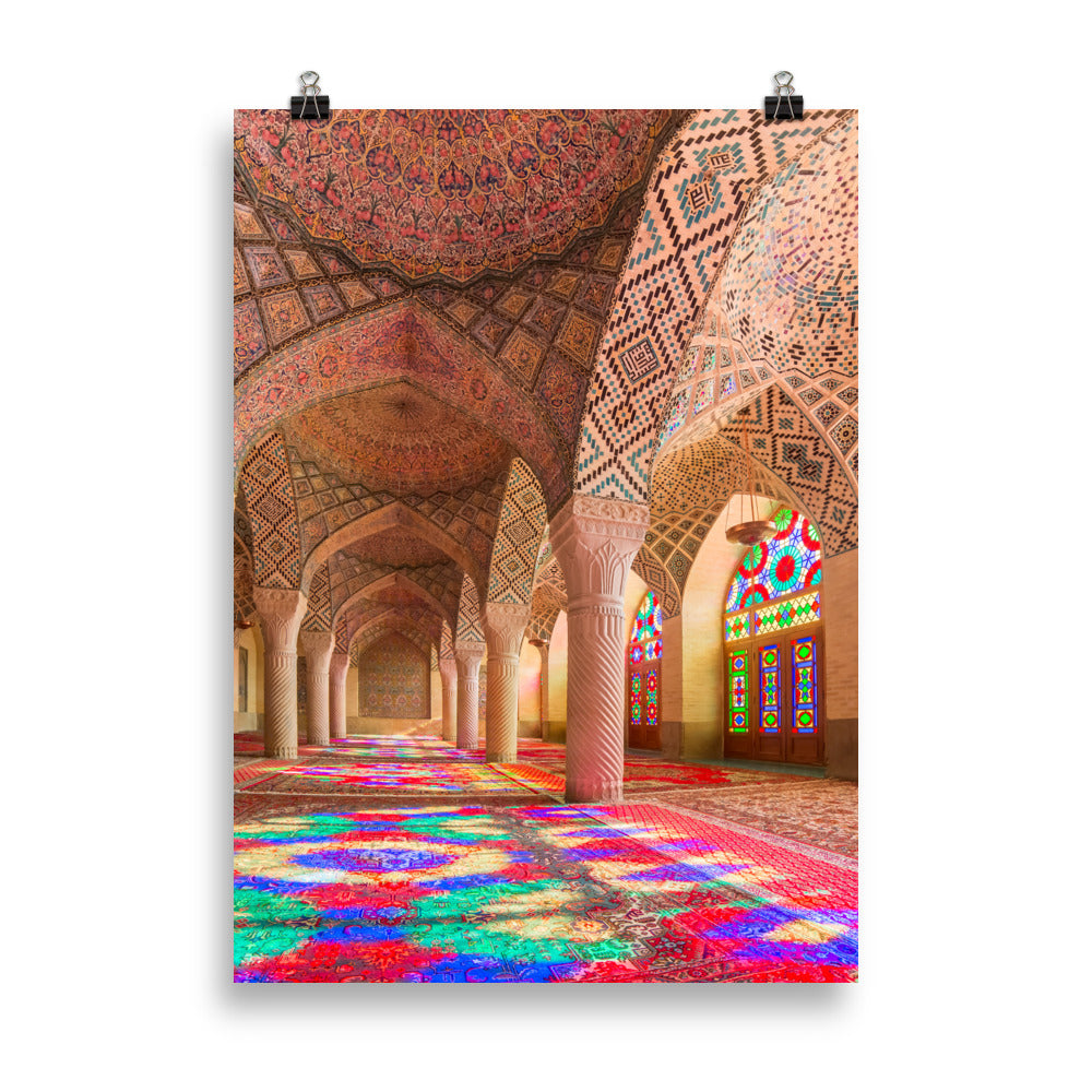 Pink Mosque Interiors Poster