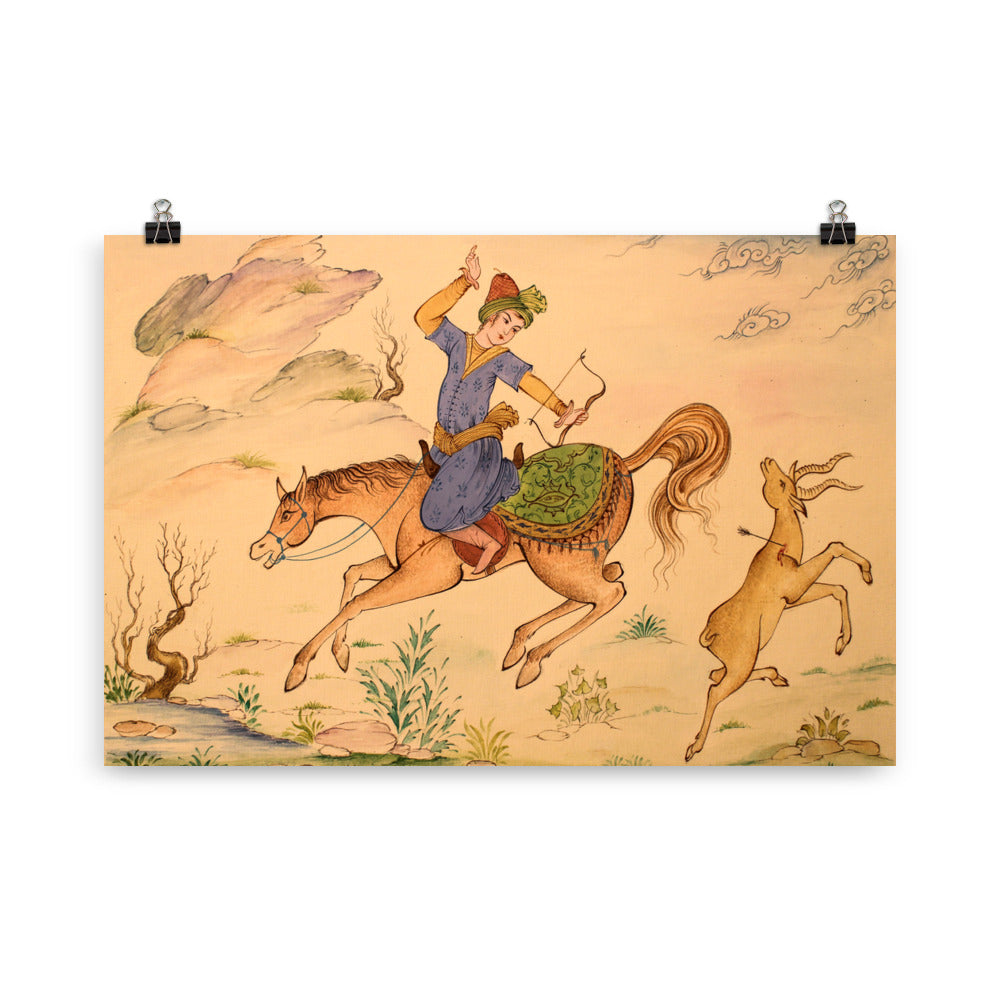 Deer Hunting Miniature Poster