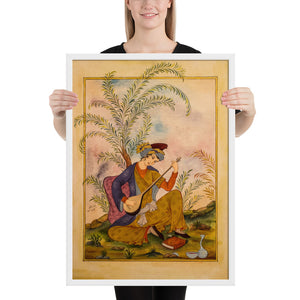 Miniature Under the Willow Shade Framed Print
