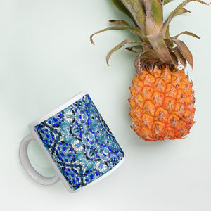Glass Tile Mug