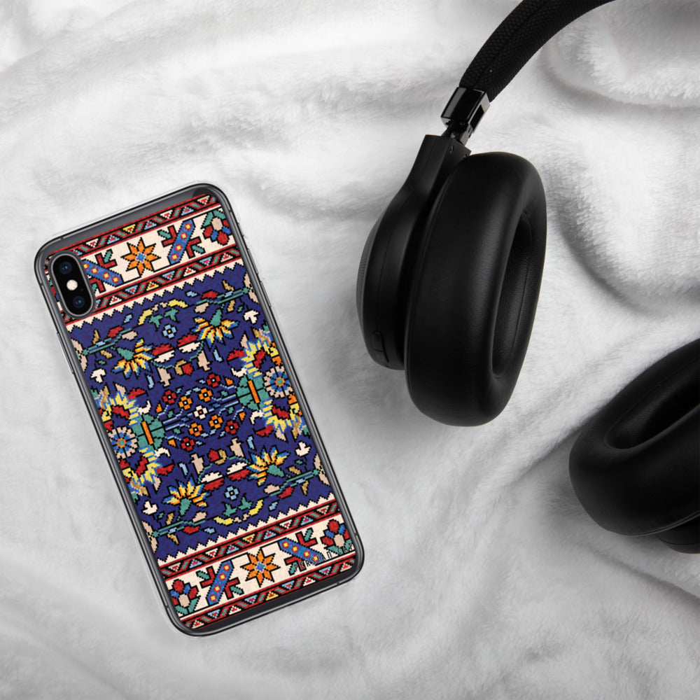 Blue Mosaic Rug iPhone Case