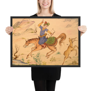 Deer Hunting Miniature Framed Print