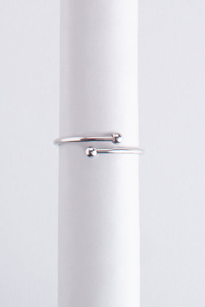 Letter Ring A plata