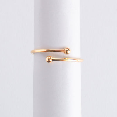Letter Ring Heart oro