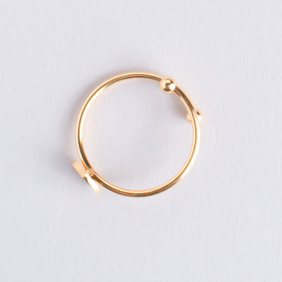 Letter Ring P oro