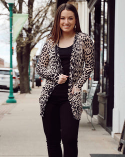 Cheetah Pocket Cardigan
