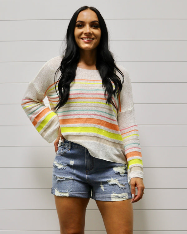 Sherbet Stripe Sweater