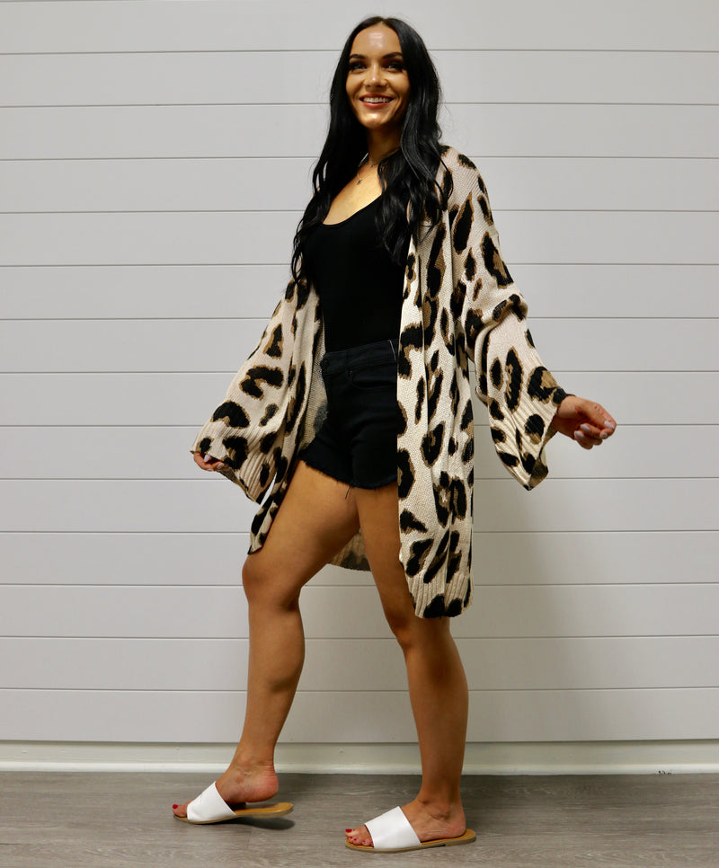 Warm Leopard Cardigan