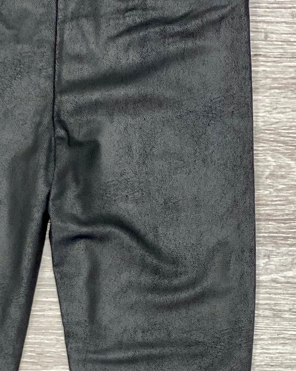 Faded Faux Leather Leggings