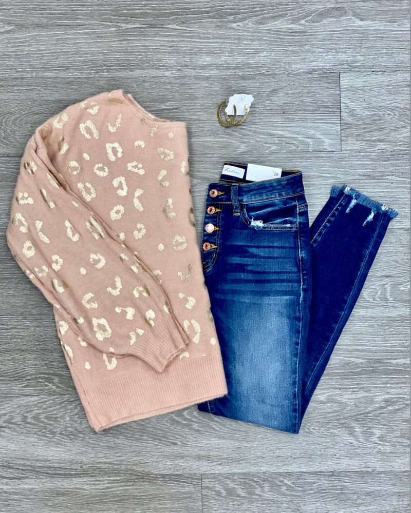 Rose Gold on the Fly Jean