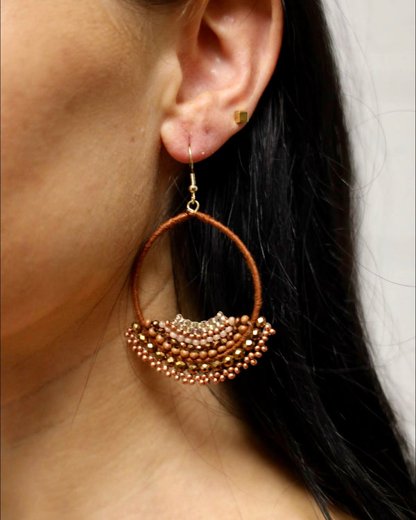 Rusty Beaded Earring