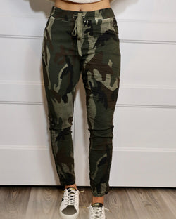 Comfy in Camo Olive Pant