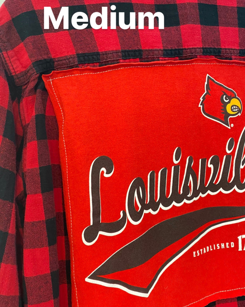 UofL Vintage Flannel Top