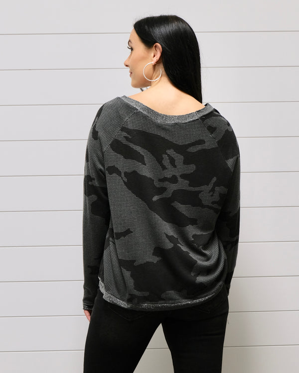 Graphic Camo Top