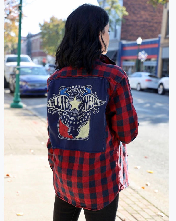 Willie Nelson Outlaw Flannel