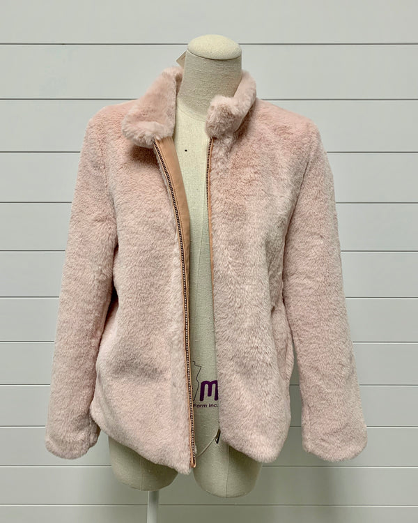 Blissful Faux Fur Zip Jacket