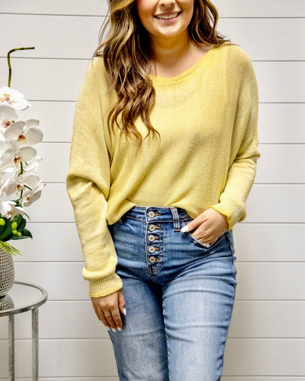 3 Way Zipper Sweater-Sunshine
