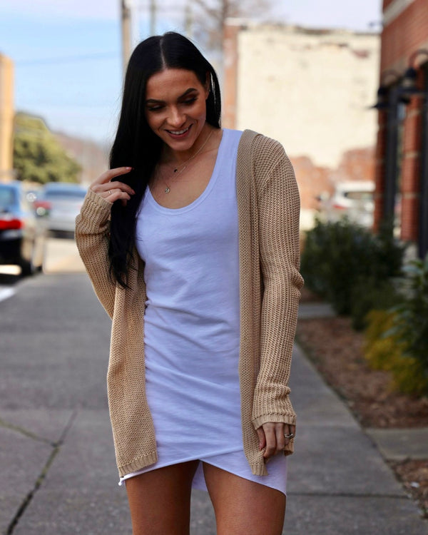 By the Beach Cardigan-Sand