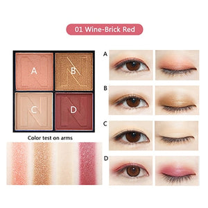 4 Colors Eye Shadow Palette Charming Stereoscopic Natural EyeShadow