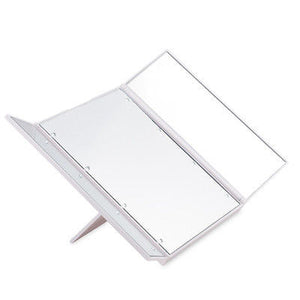 LED Light Foldable Illuminated Make Up Mirror