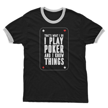 POKER PLAYER ADULT RINGER T-SHIRT