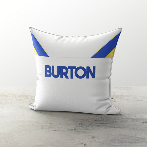 Leeds United 1986 Home Cushion - TheRetroHut