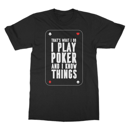 POKER PLAYER T-SHIRT ADULT