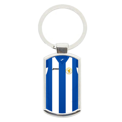 BEESTON JUNIORS METAL KEYRING BLUE/WHITE - TheRetroHut