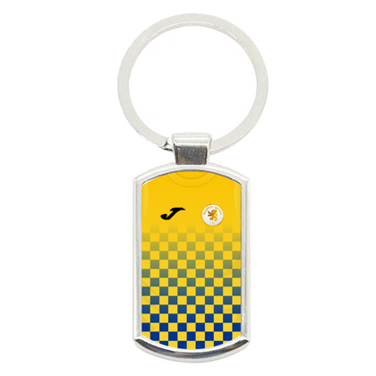 BEESTON JUNIORS OFFICIAL METAL KEYRING BLUE/YELLOW - TheRetroHut