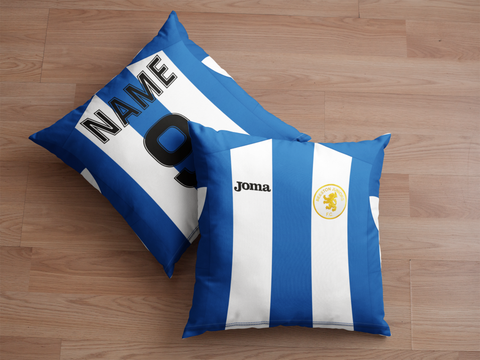 Beeston Juniors Blue/White Cushion
