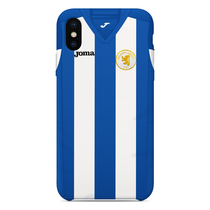 BEESTON JUNIORS OFFICIAL PHONE CASE BLUE/WHITE FRONT - TheRetroHut
