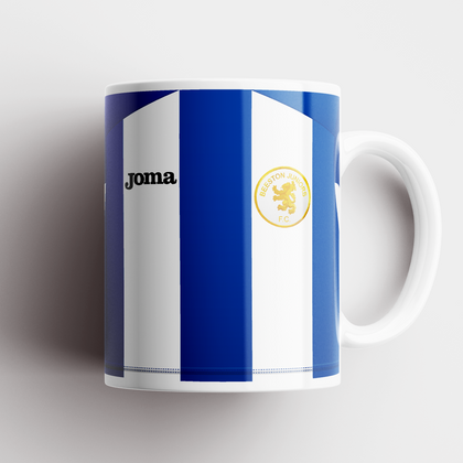 BEESTON JUNIORS OFFICIAL CERAMIC MUG BLUE/WHITE - TheRetroHut
