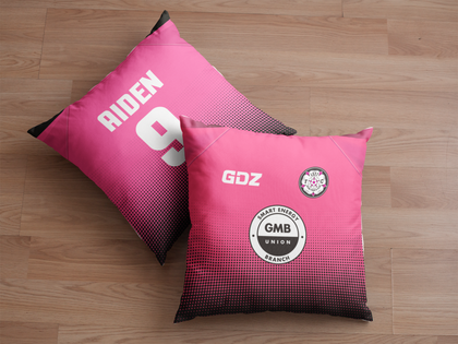 LS27 FC Cushion Black/Pink - GMB Sponsor - TheRetroHut