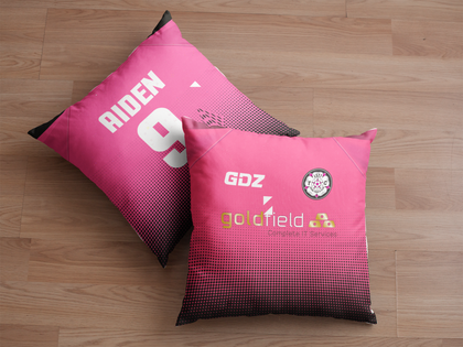 LS27 FC Cushion Black/Pink - Goldfield Sponsor - TheRetroHut